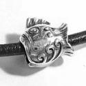 925-ös sterling ezüst medál / pandora EM-P 27 , Gyöngy, ékszerkellék, Fém köztesek, EM-P 27   925-ös valódi antikolt ezüst (bevizsgált) medál, pandóra lánc-karkötő készítéséhez .  1 db..., Alkotók boltja
