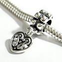 925-ös sterling ezüst medál / pandora EM-P 32, Gyöngy, ékszerkellék, Fém köztesek, Ékszerkészítés, Mindenmás, Szerelékek, EM-P 32  925-ös valódi ezüst (bevizsgált) medál, pandóra lánc-karkötő készítéséhez .  1 db / csomag..., Alkotók boltja