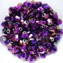 Cseh kristály, csiszolt bicon 30db/cs 4mm-es BI67, Gyöngy, ékszerkellék, Üveggyöngy, Cseh kristály, csiszolt bicon   4 mm-es  30db / csomag   , Alkotók boltja
