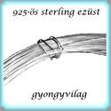 925-ös ezüst huzal normál  EH 0,6mm-es 1cm , Gyöngy, ékszerkellék, Egyéb alkatrész, EH 0,6mm-es --- 925-ös valódi ezüst (bevizsgált) 0,6mm vastag ezüst huzal.  A huzal alkalmas dr..., Alkotók boltja