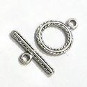 925-ös  ezüst T lánckapocs  ELK T 17B, Gyöngy, ékszerkellék, Egyéb alkatrész, 925-ös antikolt  ezüst T lánckapocs   Az ár 1 garnitúra kapocsra vonatkozik.  A méreteket az utolsó ..., Alkotók boltja