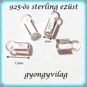 925-ös ezüst  lánckapocsvég 2mm-es 2db/cs ELK V 12-2, Gyöngy, ékszerkellék, Egyéb alkatrész, ELK V 12-2  925-ös fémjellel ellátott valódi ezüst (bevizsgált) lánckapocs vég ezüsthuzalhoz, bőrhöz..., Alkotók boltja