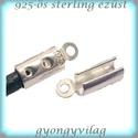 925-ös ezüst  lánckapocsvég 4mm-es 2db/cs ELK V 08-4, Gyöngy, ékszerkellék, Egyéb alkatrész, ELK V 08-4  925-ös fémjellel ellátott valódi ezüst (bevizsgált) lánckapocs vég ezüsthuzalhoz, bőrhöz..., Alkotók boltja