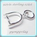 925-ös ezüst medálkapocs EMK 33, Gyöngy, ékszerkellék, Egyéb alkatrész, 925-ös fémjellel ellátott valódi ezüst (bevizsgált)medálkapocs.    A medálkapcsot fülbevaló készítés..., Alkotók boltja