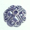 925-ös sterling ezüst gyöngykupak EGYK 03, Gyöngy, ékszerkellék, Egyéb alkatrész, EGYK 03  925-ös fémjellel ellátott antikolt valódi ezüst (bevizsgált) gyöngykupak.   1 db / c..., Alkotók boltja