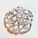 925-ös sterling ezüst gyöngykupak  1db/ csomag  EGYK 05-7, Gyöngy, ékszerkellék, Fém köztesek, EGYK 05-7  925-ös fémjellel ellátott valódi ezüst (bevizsgált) gyöngykupak.   1 db / csomag    Méret..., Alkotók boltja