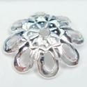 925-ös sterling ezüst gyöngykupak  1db/ csomag  EGYK 21, Gyöngy, ékszerkellék, Fém köztesek, EGYK 21  925-ös fémjellel ellátott valódi ezüst (bevizsgált) gyöngykupak.   1 db / csomag    Méretek..., Alkotók boltja
