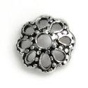 925-ös sterling ezüst gyöngykupak  1db/ csomag  EGYK 22, Gyöngy, ékszerkellék, Fém köztesek, EGYK 22  925-ös fémjellel ellátott antikolt valódi ezüst (bevizsgált) gyöngykupak.   1 db / csomag  ..., Alkotók boltja