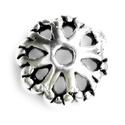 925-ös sterling ezüst gyöngykupak  1db/ csomag  EGYK 25, Gyöngy, ékszerkellék, Fém köztesek, EGYK 25  925-ös fémjellel ellátott antikolt valódi ezüst (bevizsgált) gyöngykupak.   1 db / csomag  ..., Alkotók boltja