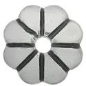 925-ös sterling ezüst gyöngykupak  1db/ csomag  EGYK 26, Gyöngy, ékszerkellék, Fém köztesek, EGYK 26  925-ös fémjellel ellátott antikolt valódi ezüst (bevizsgált) gyöngykupak.   1 db / c..., Alkotók boltja
