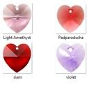 Swarovski szív 18mm-es nem bevonatos  több színben , Gyöngy, ékszerkellék, Swarovski kristályok, SWAROVSKI KRISTÁLY  SZÍV TÖBB SZÍNBEN !  Méret:18mm  Az ár egy darabra vonatkozik!  A színtáblázatot..., Alkotók boltja