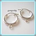 925-ös ezüst fülbevaló kapocs biztonsági kapoccsal EFK K 01, Gyöngy, ékszerkellék, Egyéb alkatrész, EFK K 01 --- 925-ös fémjellel ellátott valódi ezüst (bevizsgált)fülbevalóalap, biztonsági kapoccsal...., Alkotók boltja