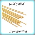Gold  Filled szerelőpálca szög végű  12  x 0,5mm-es, Gyöngy, ékszerkellék, Egyéb alkatrész, Ékszerkészítés, Mindenmás, Szerelékek, Gold Filled 12mm hosszú 0,5mm drótvastagságú. A végén lapított .  1 db    Gold Filled (aranydiffúzi..., Alkotók boltja