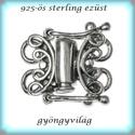 925-ös ezüst 2soros lánckapocs ELK 2S 01 B, Gyöngy, ékszerkellék, Egyéb alkatrész, Ékszerkészítés, Gyöngy,  925-ös fémjellel ellátott valódi antikolt ezüst (bevizsgált) 2 soros lánckapocs.  Az ár 1 db-ra vo..., Alkotók boltja