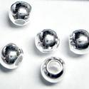 925-ös ezüst köztes / gyöngy / dísz EKÖ 10-2, Gyöngy, ékszerkellék, Fém köztesek, E10-2   925-ös valódi  ezüst (bevizsgált) köztes / gyöngy / díszitőelem .    10 db / csomag ..., Alkotók boltja