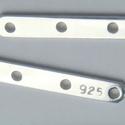 925-ös ezüst távtartó ETT 04, Gyöngy, ékszerkellék, Egyéb alkatrész, 925-ös valódi ezüst (bevizsgált) 4 soros távtartó.  1db /csomag  A méreteket a fotón láthatod.  Az e..., Alkotók boltja