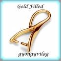 Gold Filled medálkapocs EMK 45G , Gyöngy, ékszerkellék, Egyéb alkatrész, 14K arannyal bevont (gold filled) 925-ös ezüst medálkapocs fülbevaló és medál készítéséhez.   A mére..., Alkotók boltja