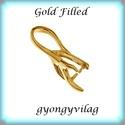 Gold Filled medálkapocs EMK 59G , Gyöngy, ékszerkellék, Egyéb alkatrész, EMK 59G  14K arannyal bevont (gold filled) 925-ös ezüst medálkapocs fülbevaló és medál készítéséhez...., Alkotók boltja