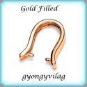 Gold Filled medálkapocs EMK 63G , Gyöngy, ékszerkellék, Egyéb alkatrész, EMK 63G  14K arannyal bevont (gold filled) 925-ös ezüst medálkapocs fülbevaló és medál készítéséhez...., Alkotók boltja