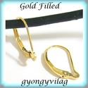 Gold Filled fülbevalókapocs EFK K 18G, Gyöngy, ékszerkellék, Egyéb alkatrész, Ékszerkészítés, Mindenmás, Szerelékek, EFK K 18G 14K arannyal bevont (gold filled) 925-ös ezüst fülbevalókapocs .  1 pár   A Gold Filled (..., Alkotók boltja