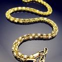 Aranyozott nyaklánc ABÜL 03 42, Gyöngy, ékszerkellék, Egyéb alkatrész, ABÜL 03 42  Aranyozott vastag áttört mintázatú nyaklánc.  A méretek a fotón láthatók.  A l..., Alkotók boltja