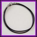 Fényezett bőr nyaklánc BÜL08, Gyöngy, ékszerkellék, Egyéb alkatrész, Fényezett bőr nyaklánc BÜL08  A lánc hossza:44 cm + lánchosszabbító  , Alkotók boltja