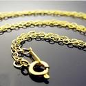 Aranyozott nyaklánc ABÜL 04 42, Gyöngy, ékszerkellék, Egyéb alkatrész, ABÜL 03 42  Aranyozott szemes nyaklánc.  A méretek a fotón láthatók.  A lánc hossza: 42cm  , Alkotók boltja