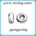 925-ös ezüst köztes / gyöngy / dísz EKÖ 77, Gyöngy, ékszerkellék, Fém köztesek, EKÖ 77   925-ös valódi  ezüst (bevizsgált) köztes / gyöngy / díszitőelem .    1db / csomag    Az ezü..., Alkotók boltja