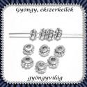 Tibeti ezüst hatású gyöngy/köztes 30db  BKÖ1-01, Gyöngy, ékszerkellék, Egyéb alkatrész, BKÖ1-01  Tibeti ezüst hatású gyöngy/köztes  30db/csomag       , Alkotók boltja