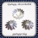 Ezüst színű 30db gyöngykupak  BGYK 13, Gyöngy, ékszerkellék, Fém köztesek, Ékszerkészítés, Mindenmás, Szerelékek, Ezüst színű  gyöngykupak .  30db / csomag  A méreteket a fotón találod. , Alkotók boltja
