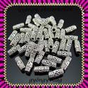 Tibeti ezüst hatású gyöngy/köztes 10db  BKÖ1-11, Gyöngy, ékszerkellék, Egyéb alkatrész, Ékszerkészítés, Mindenmás, Szerelékek, BKÖ1-11  Tibeti ezüst hatású gyöngy/köztes  10db/csomag  Méret:8 x 3 mm       , Alkotók boltja