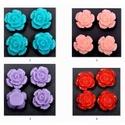 Műgyanta rózsa caboshan  5db /csomag  CAB01, Gyöngy, ékszerkellék, Fém köztesek, Ékszerkészítés, Mindenmás, Szerelékek, CAB01   Műgyanta rózsa cabochan  5db /csomag  Az 5 db-ot bármelyik színből tetszőlegesen összeválog..., Alkotók boltja