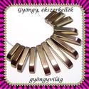 gold hematit 13 részes szett  GYÁ-SZ09-2, Gyöngy, ékszerkellék, Fém köztesek, GYÁ-SZ09-2 13 részes gold hematit  szett , nyaklánc,  fülbevaló készítéséhez.  A méreteket..., Alkotók boltja