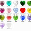 Swarovski szív 10mm-es nem bevonatos több színben , Gyöngy, ékszerkellék, Swarovski kristályok, SWAROVSKI KRISTÁLY  SZÍV  MEDÁL TÖBB SZÍNBEN !  Méret:10mm  Az ár egy darabra vonatkozik!  A színtáb..., Alkotók boltja