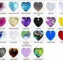 Swarovski szív 10mm-es  AB bevonatos több színben   , Gyöngy, ékszerkellék, Swarovski kristályok, Ékszerkészítés, Gyöngy, SWAROVSKI KRISTÁLY AB BEVONATOS SZÍV  TÖBB SZÍNBEN !  Méret:10mm  Az ár egy darabra vonatkozik!  A ..., Alkotók boltja
