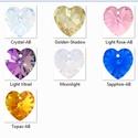 Swarovski szív 14mm-es  AB bevonatos több színben , Gyöngy, ékszerkellék, Swarovski kristályok, SWAROVSKI KRISTÁLY AB BEVONATOS SZÍV TÖBB SZÍNBEN !  Méret:14mm  Az ár egy darabra vonatkozik!  A sz..., Alkotók boltja
