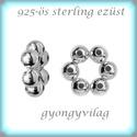 925-ös ezüst köztes / gyöngy / dísz EKÖ 79, Gyöngy, ékszerkellék, Fém köztesek, EKÖ 79   925-ös valódi  ezüst (bevizsgált) köztes / gyöngy / díszitőelem .    1 db / csomag..., Alkotók boltja