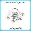 925-ös sterling ezüst gyöngykupak  1db/ csomag  EGYK 20, Gyöngy, ékszerkellék, Fém köztesek, EGYK 20  925-ös fémjellel ellátott valódi ezüst (bevizsgált) gyöngykupak.   1 db / csomag    ..., Alkotók boltja