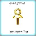 Gold Filled medálkapocs EMK 65G , Gyöngy, ékszerkellék, Egyéb alkatrész, 14K arannyal bevont (gold filled) 925-ös ezüst medálkapocs  A méreteket a fotón láthatod. A sw..., Alkotók boltja