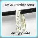 925-ös ezüst medálkapocs EMK 66, Gyöngy, ékszerkellék, Swarovski kristályok,  925-ös fémjellel ellátott valódi ezüst (bevizsgált)medálkapocs.  Az ár 1db kapocsra vonatkozik.  A ..., Alkotók boltja