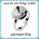 925-ös sterling ezüst gyűrű alap EGY 04-14/18,5, Gyöngy, ékszerkellék, Fém köztesek, EGY 04-14/18,5  925-ös valódi ezüst (bevizsgált) gyűrű alap  14mm-es rivolihoz .  1 db / csomag    A..., Alkotók boltja