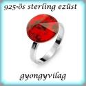 925-ös sterling ezüst gyűrű alap EGY 04-14/19,5, Gyöngy, ékszerkellék, Fém köztesek, Alkotók boltja