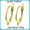 Gold Filled fülbevalókapocs EFK K 02G, Gyöngy, ékszerkellék, Egyéb alkatrész, Ékszerkészítés, Mindenmás, Szerelékek, EFK K 02G 14K arannyal bevont (gold filled) 925-ös ezüst fülbevalókapocs .  1 pár   A Gold Filled (..., Alkotók boltja