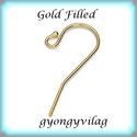 Gold Filled fülbevalókapocs EFK A 01-2G, Gyöngy, ékszerkellék, Egyéb alkatrész, EFK A 01-2G 14K arannyal bevont (gold filled) 925-ös ezüst fülbevalókapocs .  1 pár   A Gold Filled ..., Alkotók boltja