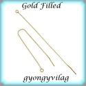 Gold Filled  füllánc EFK BFL 01 g, Gyöngy, ékszerkellék, Egyéb alkatrész, EFK BFL 01 g --- 14K arannyal bevont (gold filled) 925-ös ezüst  füllánc   1 pár    A Gold Filled (a..., Alkotók boltja