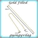 Gold Filled  füllánc EFK BFL 02 g, Gyöngy, ékszerkellék, Egyéb alkatrész, Alkotók boltja