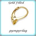 Gold Filled fülbevalókapocs EFK K 26G, Gyöngy, ékszerkellék, Egyéb alkatrész, EFK K 26G 14K arannyal bevont (gold filled) 925-ös ezüst fülbevalókapocs,félig fúrt gyöngyhöz .  1 p..., Alkotók boltja