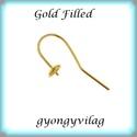 Gold Filled fülbevalókapocs félig fúrt gyöngyhöz  EFK A 69 g, Gyöngy, ékszerkellék, Egyéb alkatrész,   EFK A 69 g 14K arannyal bevont (gold filled) 925-ös ezüst fülbevalókapocs félig fúrt gyöngyhöz .  ..., Alkotók boltja