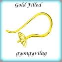 Gold Filled fülbevalókapocs félig fúrt gyöngyhöz  EFK A 70 g, Gyöngy, ékszerkellék, Egyéb alkatrész,   EFK A 70 g 14K arannyal bevont (gold filled) 925-ös ezüst fülbevalókapocs félig fúrt gyöngyhöz .  ..., Alkotók boltja