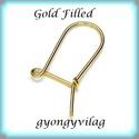 Gold Filled fülbevalókapocs EFK K 12G, Gyöngy, ékszerkellék, Egyéb alkatrész, Ékszerkészítés, Mindenmás, Szerelékek, EFK K 12G 14K arannyal bevont (gold filled) 925-ös ezüst fülbevalókapocs .  1 pár   A Gold Filled (..., Alkotók boltja